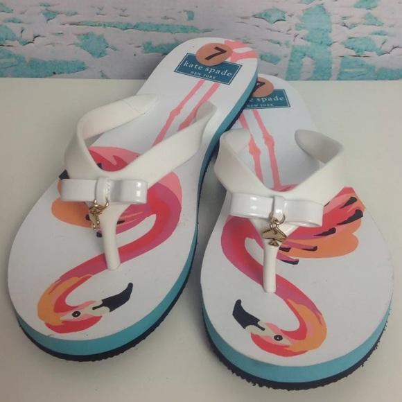 2e3991396398 Kate Spade New York Pink Flamingo Flip Flops Sz 7